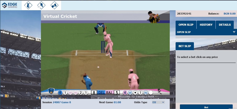cricket virtualen