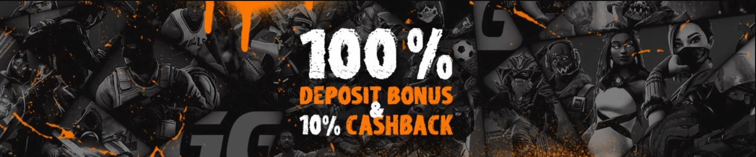 ggbet bonus 100% depozit i 10% keshbek