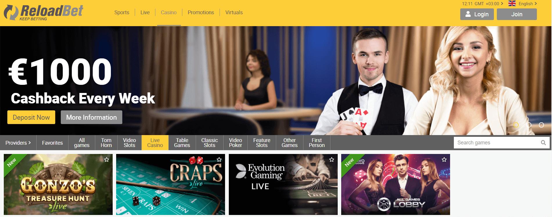 reloadbet live casino-komarbet.com